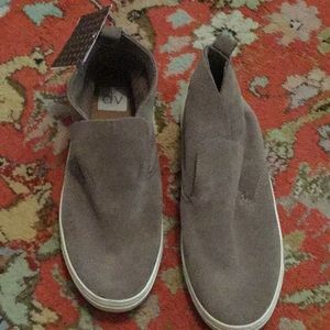 NWT Taupe Vegan Suede Ankle-High Booties Size 8